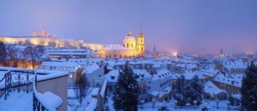 Prag im Winter Lizenzfreies Stockfoto