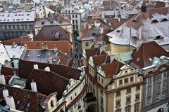 Prag im Winter Lizenzfreies Stockbild