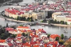 Prag ist das Kapital der Tschechischen Republik Stockfotos