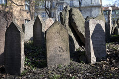 Prag, jüdischer Kirchhof stockbild