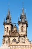 Prag-Kirche der Mutter des Gottes vor TÃ-½ n Stockfotos