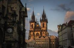 Prag - Kostel Panny Marie Stockbilder