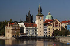Prag - Mähnen Stockbild