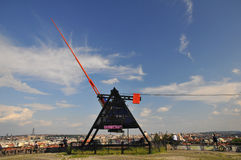 Prag metronom - riesige Skulptur Lizenzfreie Stockfotos