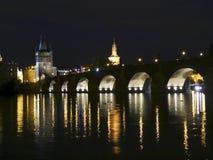 Prag nachts Stockfoto