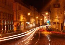 Prag nachts. Stockbilder
