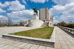 Prag, nationales Denkmal auf dem Vitkov-Hügel Lizenzfreies Stockfoto