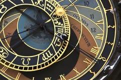 Prag orloj (astronomische Borduhr) lizenzfreies stockfoto