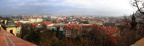 Prag Panorama stockbild