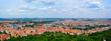 Prag-Panorama, Tschechische Republik Stockfotos