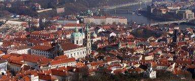 Prag. Panoramische Ansicht Stockfotos