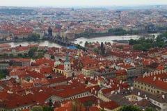Prag-Schloss-Ansicht Lizenzfreies Stockfoto