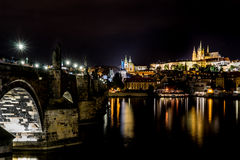 Prag-Schloss, Charles Bridge Stockfotos