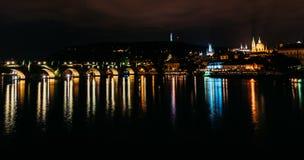 Prag-Schloss, Charles Bridge Lizenzfreies Stockfoto