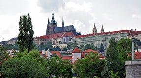 Prag-Schloss, die Hauptsitze des Präsidenten Tschechischen Republik, Europa Stockbild