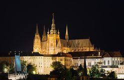 Prag: Prag-Schloss, Kathedrale St. Vitus lizenzfreies stockfoto