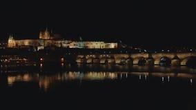 Prag-Schloss nachts stock footage