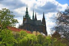 Prag-Schloss, Panorama von Prag, HradÄ- irgendwie, Tschechische Republik Stockbilder