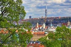 Prag-Schloss, Panorama von Prag, HradÄ- irgendwie, Tschechische Republik Stockbild