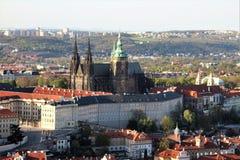 Prag-Schloss von oben lizenzfreies stockbild
