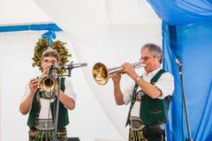 Prag, am 23. September 2017: Das traditionelle deutsche Bierfestival feiernd, nannte Oktoberfest in der Tschechischen Republik stockfotografie