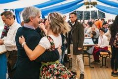 Prag, am 23. September 2017: Das traditionelle deutsche Bierfestival feiernd, nannte Oktoberfest in der Tschechischen Republik A stockbild