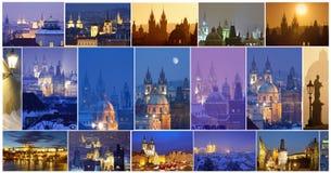 Prag - Stadt von hundert Helmen zusammengesetzt stockfotografie