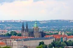 Prag-Stadtbild-Antenne Lizenzfreies Stockfoto