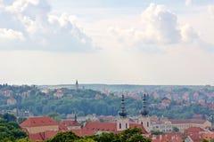 Prag-Stadtbild-Antenne Lizenzfreie Stockbilder