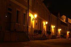 Prag-Straße nachts Lizenzfreie Stockbilder