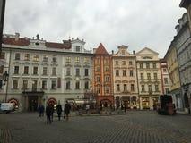 Prag-streetlife stockfotos