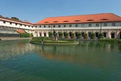 prag Teich in Wallenstein-Gärten stockbilder