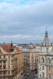 Prag, Tschechische Republik, alte Stadt in einem Retrostilwinter, kaltes Tonen färben Sie Bilder von Europa mit Raum für Text Stockbilder