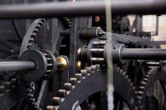 Prag, Tschechische Republik, astrnonomical Uhr Orloj innerhalb des Mechanismus Lizenzfreies Stockbild