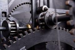 Prag, Tschechische Republik, astrnonomical Uhr Orloj innerhalb des Mechanismus Lizenzfreie Stockfotografie