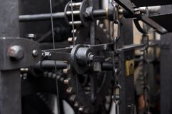 Prag, Tschechische Republik, astrnonomical Uhr Orloj innerhalb des Mechanismus Stockbild