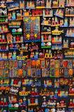 Prag, Tschechische Republik, 2017 10 23: buntes künstlerisches handgemachtes Lizenzfreie Stockfotos