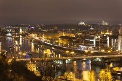 PRAG, TSCHECHISCHE REPUBLIK - 20. DEZEMBER 2015: Foto der Nacht Prag Lizenzfreies Stockfoto