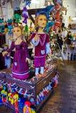 Prag, Tschechische Republik - 31. Dezember 2017: Traditionelle Marionetten gemacht vom Holz Shop in Prag Lizenzfreie Stockfotos