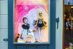 Prag, Tschechische Republik - 31. Dezember 2017: Traditionelle Marionetten gemacht vom Holz Shop in Prag Stockbilder