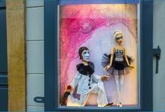 Prag, Tschechische Republik - 31. Dezember 2017: Traditionelle Marionetten gemacht vom Holz Shop in Prag Lizenzfreies Stockbild