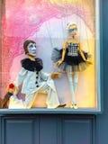 Prag, Tschechische Republik - 31. Dezember 2017: Traditionelle Marionetten gemacht vom Holz Shop in Prag Stockfoto