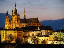 Prag, Tschechische Republik Die Stadtkathedrale von Heiligen Vitus Lizenzfreie Stockfotografie