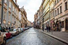 24 01 2018 Prag, Tschechische Republik - gehend durch die Straßen Stockfotos