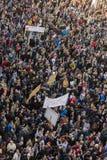 PRAG, TSCHECHISCHE REPUBLIK - 15. MAI 2017: Demonstration auf Quadrat Prags Wenceslas gegen die gegenwärtige Regierung und das Ba Lizenzfreie Stockfotos