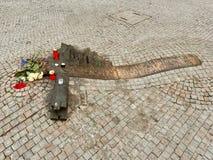 Prag, Tschechische Republik - 1. November 2018 Erinnerungs zu Jan Palach- und Jan.-ZajÃc Front des Nationalmuseums auf Wenceslas  stockfotos