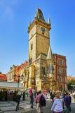 PRAG, TSCHECHISCHE REPUBLIK 12. SEPTEMBER 2015: Astronomische Uhr (Sta Lizenzfreies Stockbild