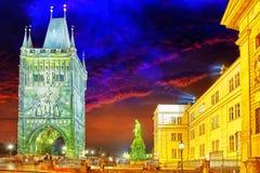 PRAG, TSCHECHISCHE REPUBLIK 13. SEPTEMBER 2015: Monument für Charles Lizenzfreie Stockbilder