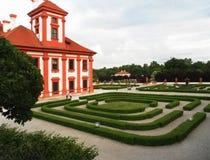 Prag, Tschechische Republik Troja Palast Lizenzfreies Stockfoto