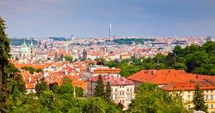 Prag vom Petrin Hügel Lizenzfreie Stockbilder